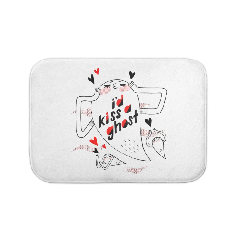 Ghost Kisser Home Bath Mat by Hey there, Waterbear!