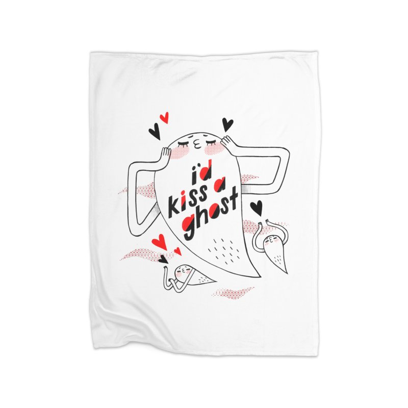 Ghost Kisser Home Blanket by Hey there, Waterbear!
