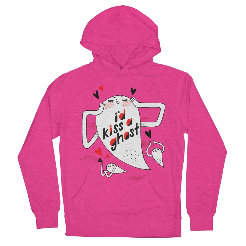Ghost Kisser Women's French Terry Pullover Hoody by Hey there, Waterbear!