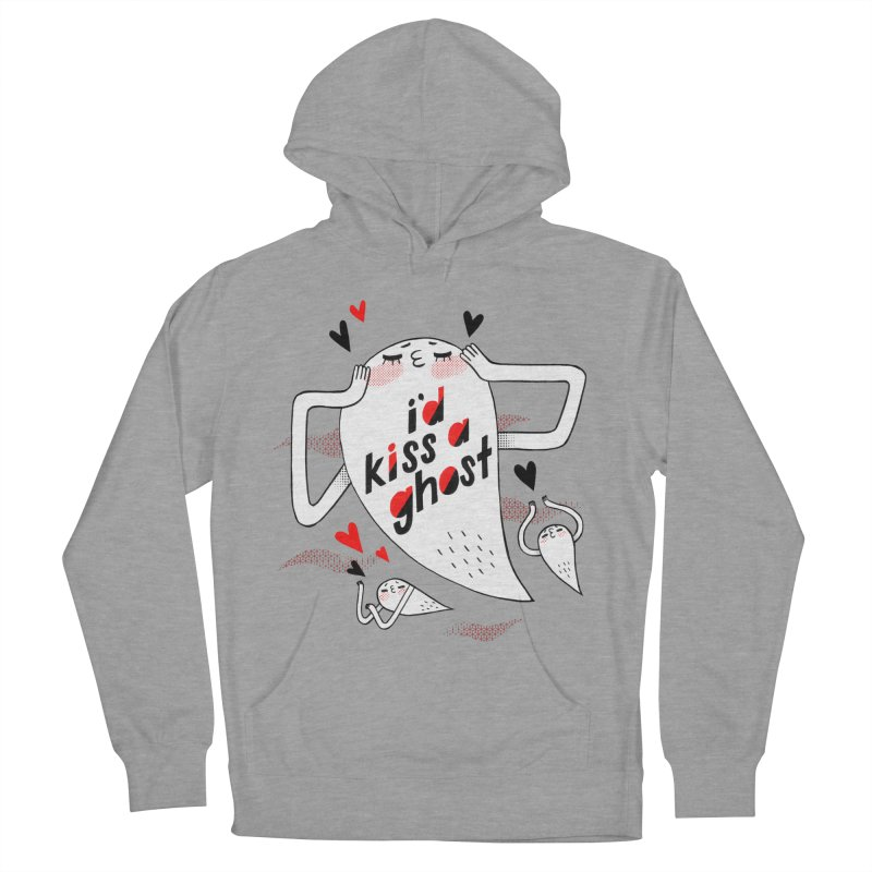 Ghost Kisser Men's French Terry Pullover Hoody by Hey there, Waterbear!