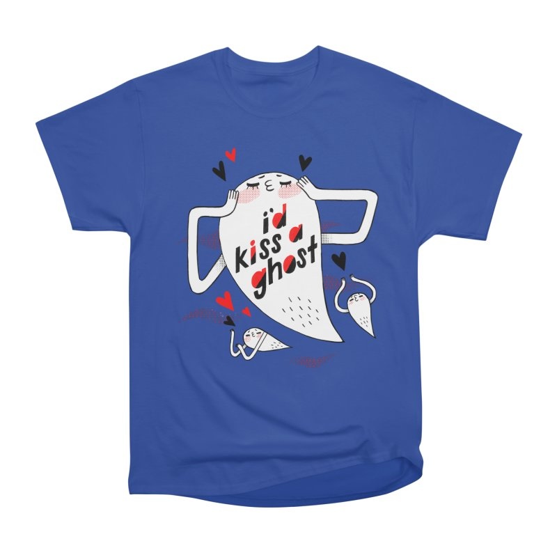 Ghost Kisser Men's Heavyweight T-Shirt by Hey there, Waterbear!