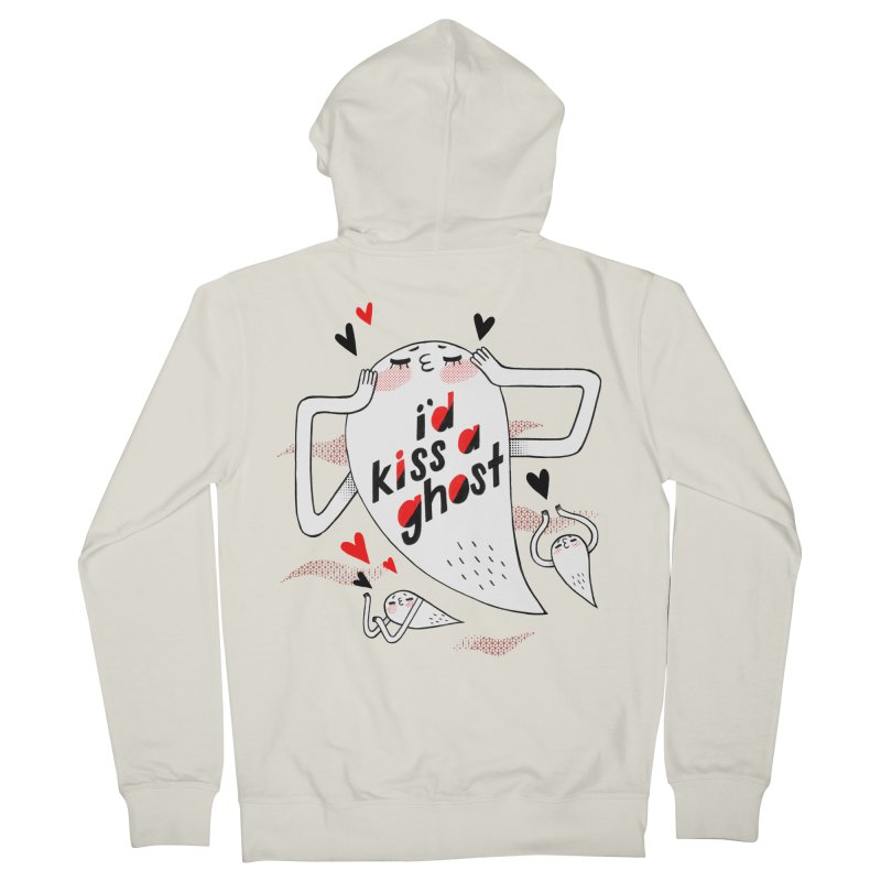 Ghost Kisser Women's Zip-Up Hoody by Hey there, Waterbear!