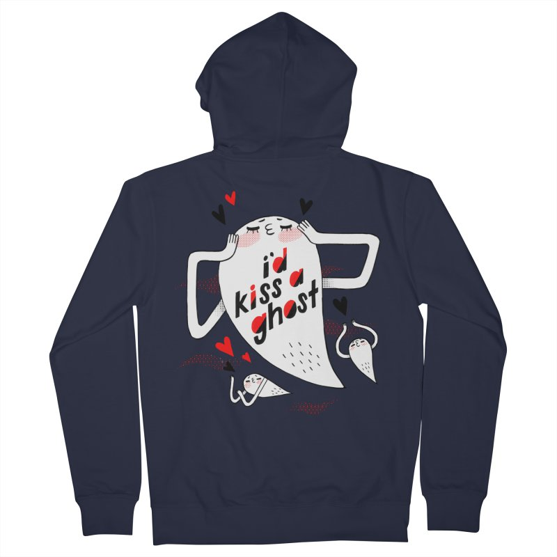 Ghost Kisser Men's Zip-Up Hoody by Hey there, Waterbear!