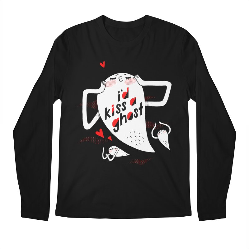 Ghost Kisser Men's Regular Longsleeve T-Shirt by Hey there, Waterbear!