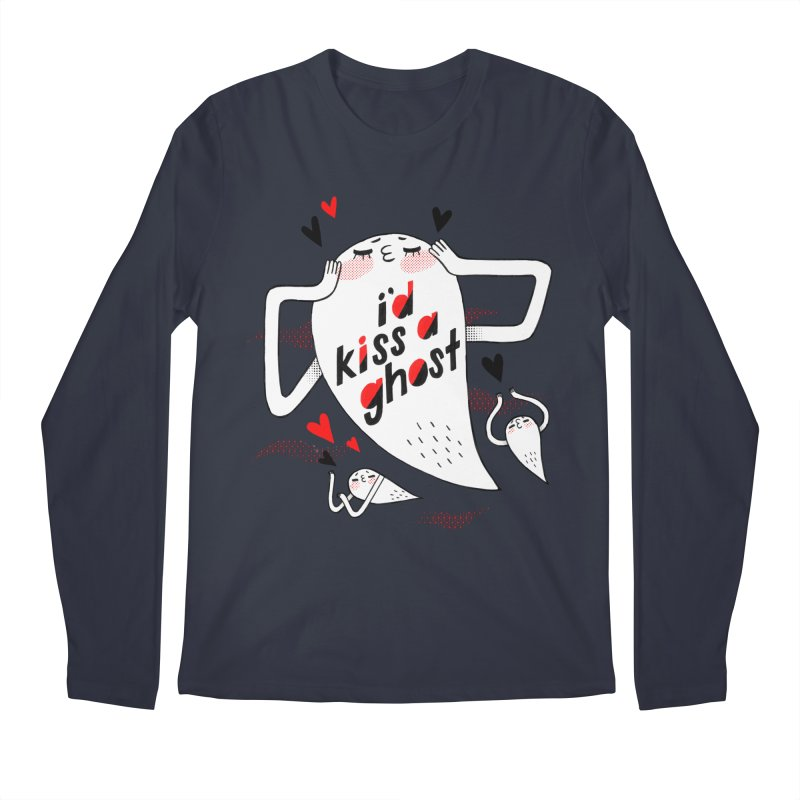 Ghost Kisser Men's Longsleeve T-Shirt by Hey there, Waterbear!