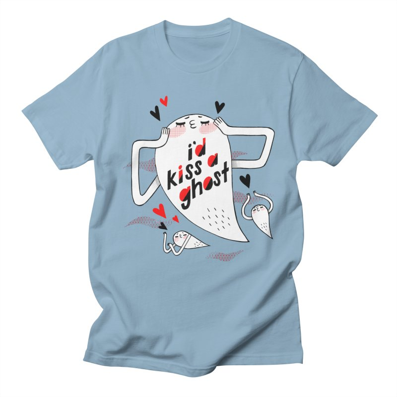 Ghost Kisser Women's Regular Unisex T-Shirt by Hey there, Waterbear!