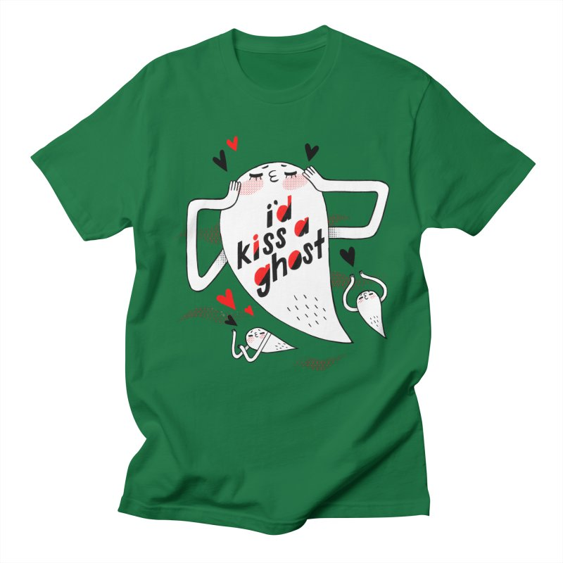 Ghost Kisser Women's Regular Unisex T-Shirt by Hey there, Waterbear!