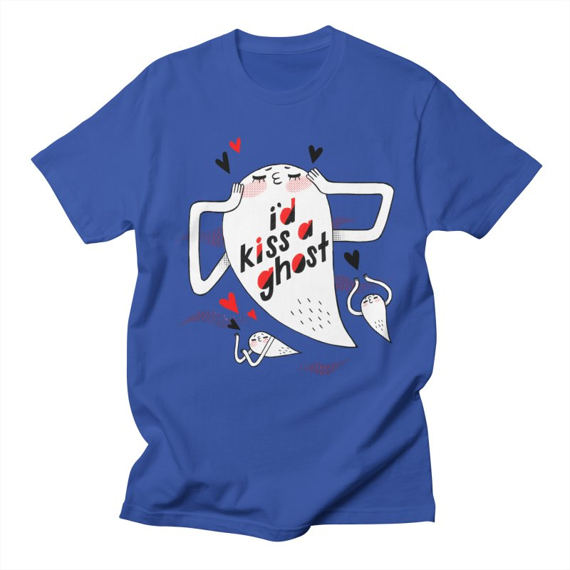 Ghost Kisser Men's Regular T-Shirt by Hey there, Waterbear!