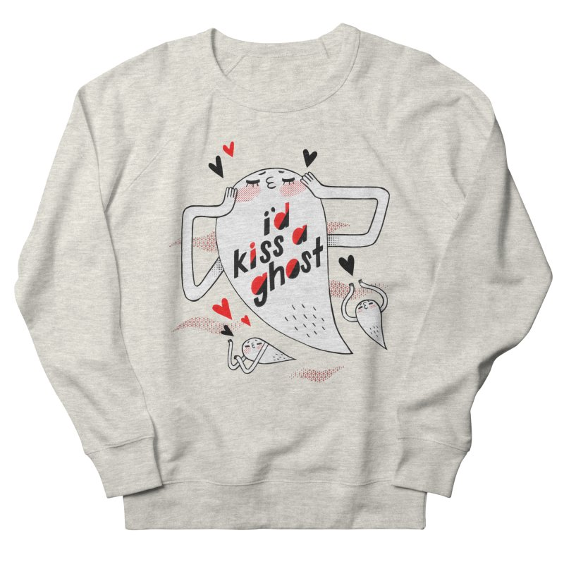 Ghost Kisser Men's French Terry Sweatshirt by Hey there, Waterbear!
