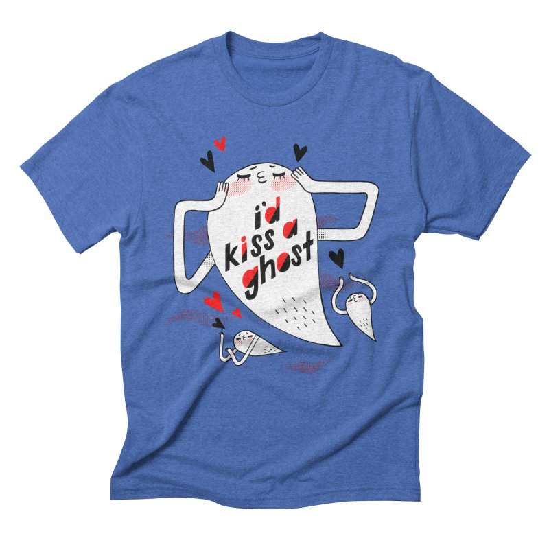 Ghost Kisser Men's Triblend T-shirt by Hey there, Waterbear!