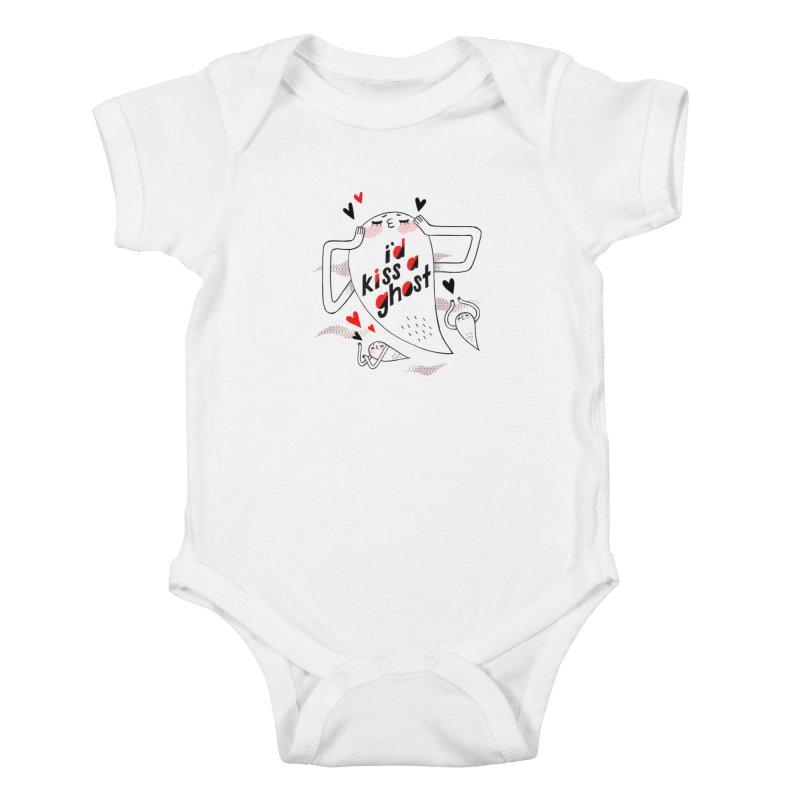 Ghost Kisser Kids Baby Bodysuit by Hey there, Waterbear!