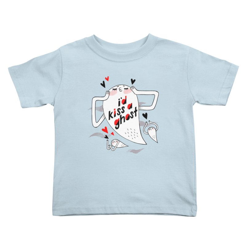 Ghost Kisser Kids Toddler T-Shirt by Hey there, Waterbear!