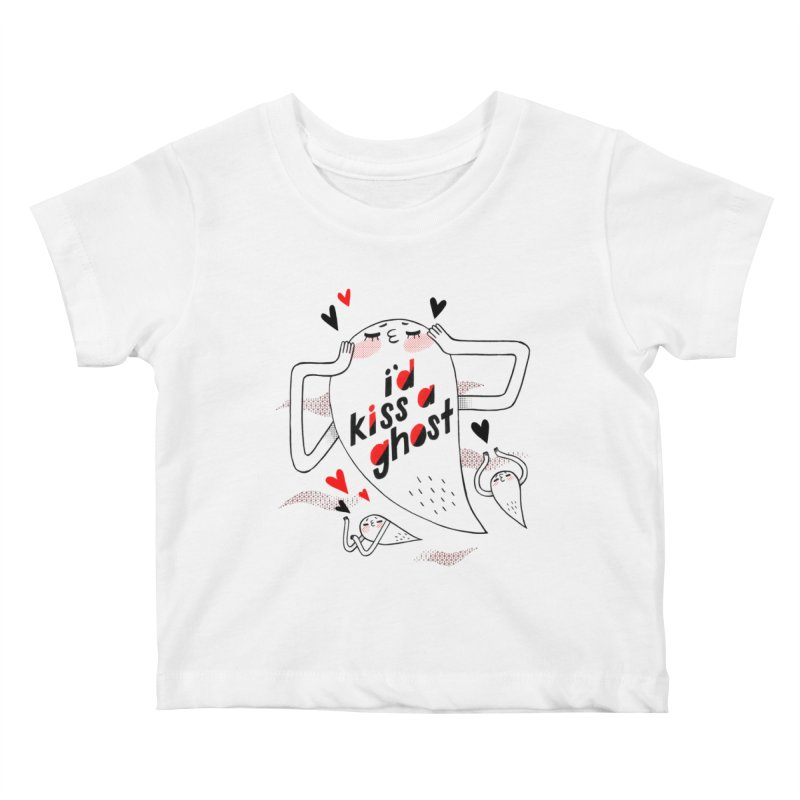 Ghost Kisser Kids Baby T-Shirt by Hey there, Waterbear!