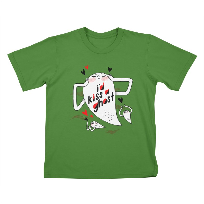 Ghost Kisser Kids T-Shirt by Hey there, Waterbear!