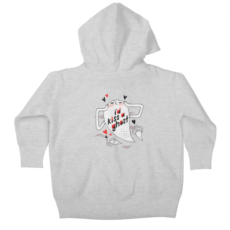 Ghost Kisser Kids Baby Zip-Up Hoody by Hey there, Waterbear!