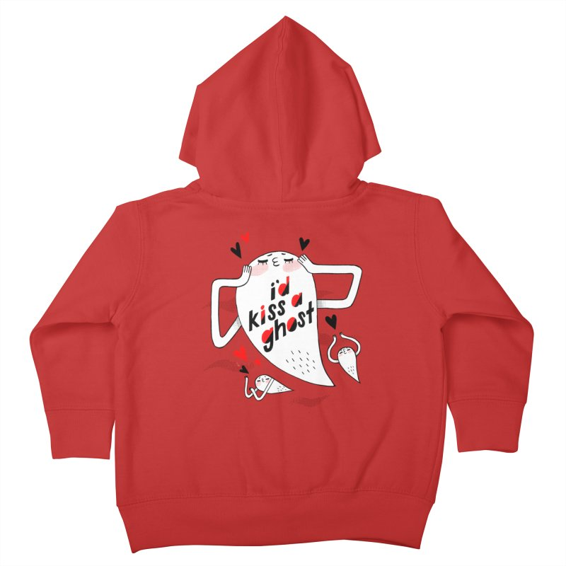 Ghost Kisser Kids Toddler Zip-Up Hoody by Hey there, Waterbear!