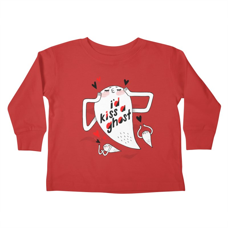 Ghost Kisser Kids Toddler Longsleeve T-Shirt by Hey there, Waterbear!