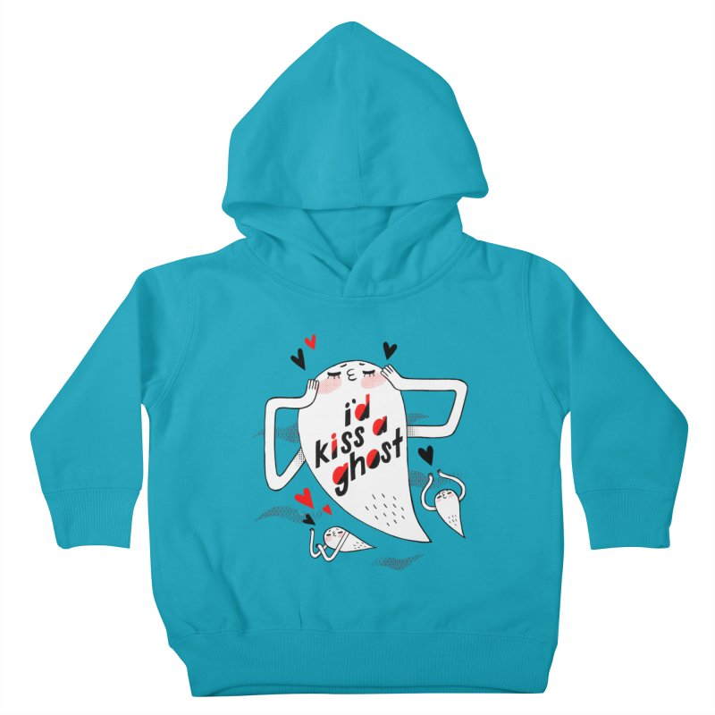 Ghost Kisser Kids Toddler Pullover Hoody by Hey there, Waterbear!