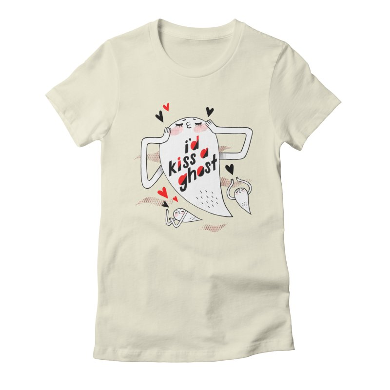 Ghost Kisser Women's Fitted T-Shirt by Hey there, Waterbear!