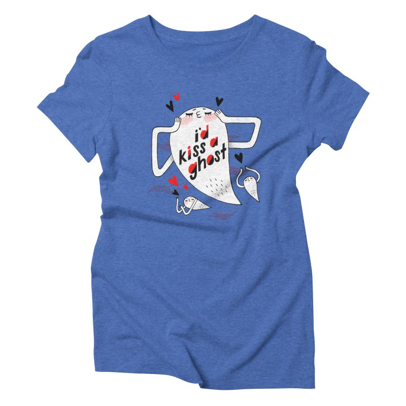 Ghost Kisser Women's Triblend T-shirt by Hey there, Waterbear!