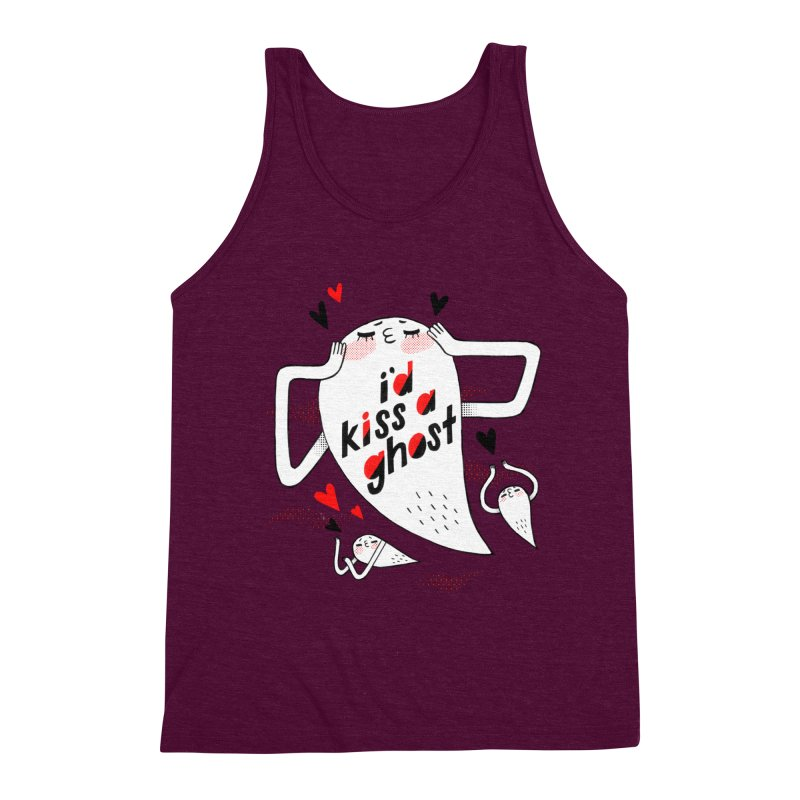 Ghost Kisser Men's Triblend Tank by Hey there, Waterbear!
