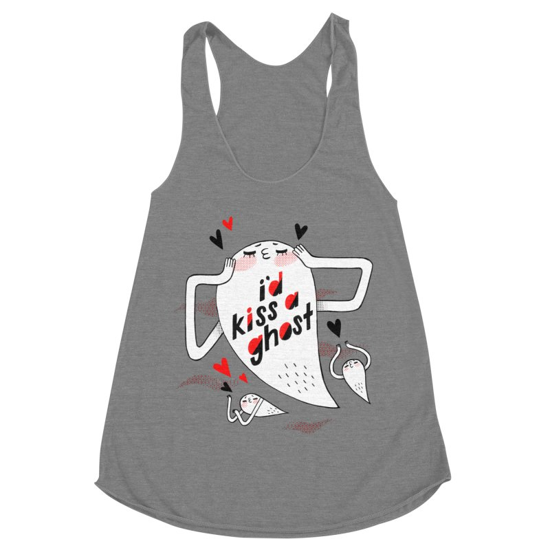 Ghost Kisser Women's Racerback Triblend Tank by Hey there, Waterbear!