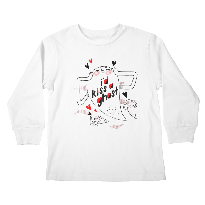 Ghost Kisser Kids Longsleeve T-Shirt by Hey there, Waterbear!