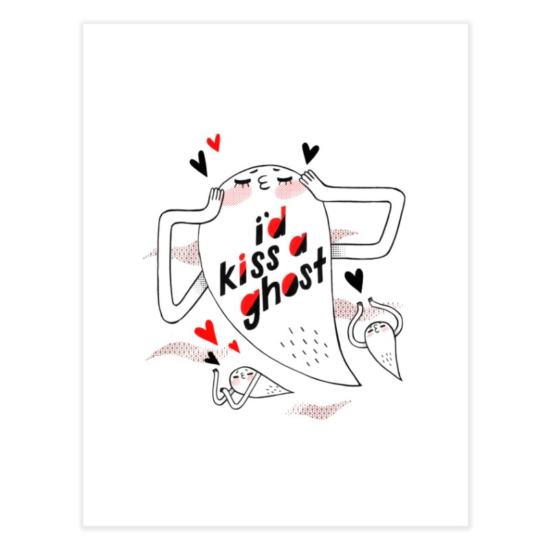 Ghost Kisser Home Fine Art Print by Hey there, Waterbear!