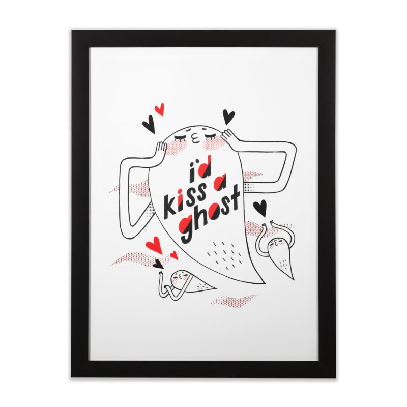 Ghost Kisser Home Framed Fine Art Print by Hey there, Waterbear!