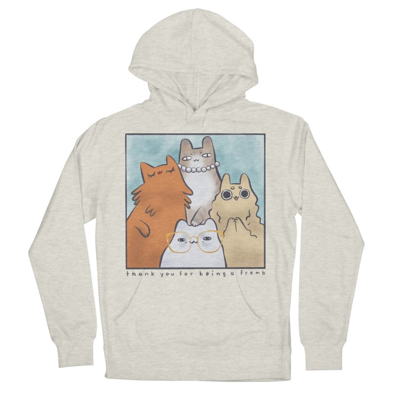 Golden Frembs Women's French Terry Pullover Hoody by Hey there, Waterbear!