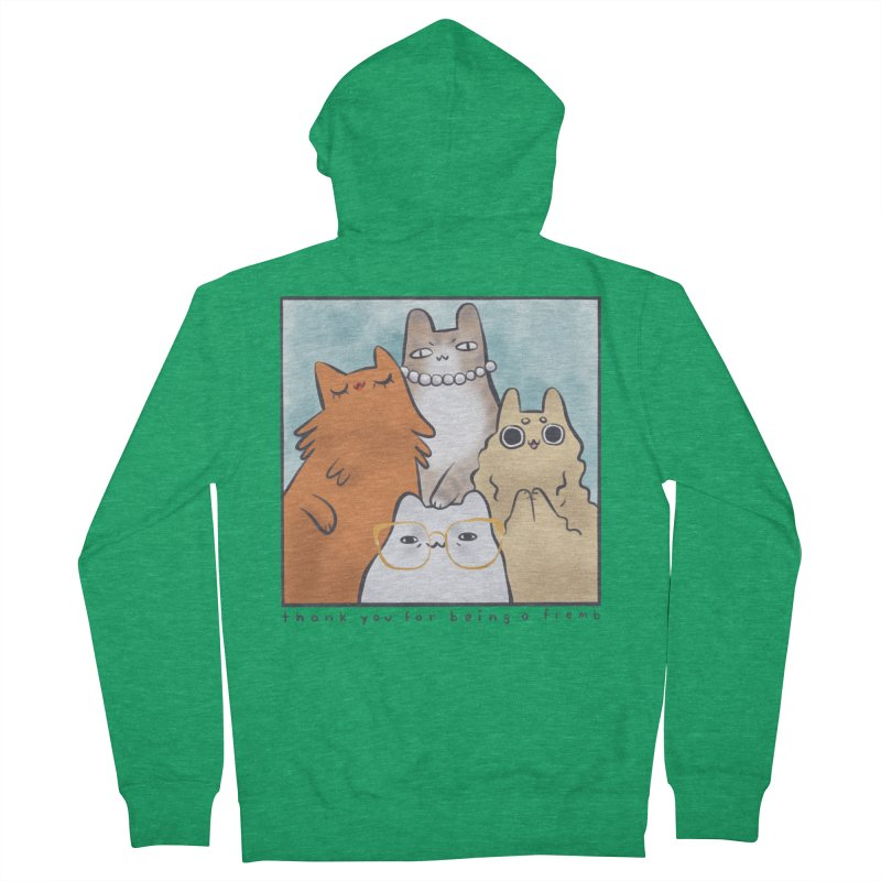 Golden Frembs Women's French Terry Zip-Up Hoody by Hey there, Waterbear!