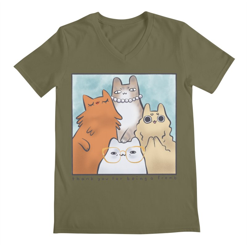 Golden Frembs Men's V-Neck by Hey there, Waterbear!