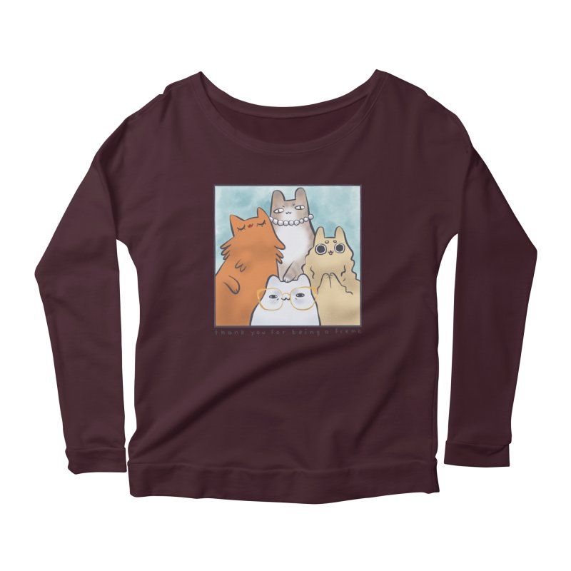 Golden Frembs Women's Scoop Neck Longsleeve T-Shirt by Hey there, Waterbear!