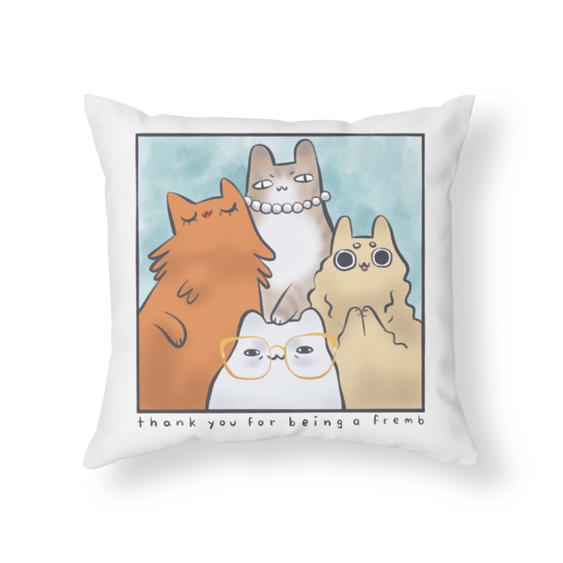 Golden Frembs Home Throw Pillow by Hey there, Waterbear!