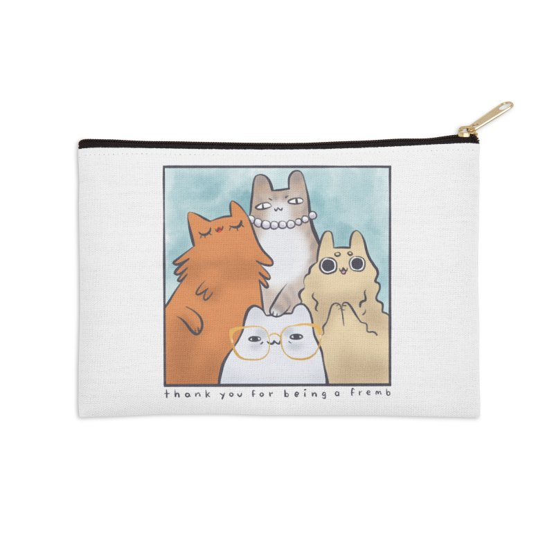 Golden Frembs Accessories Zip Pouch by Hey there, Waterbear!