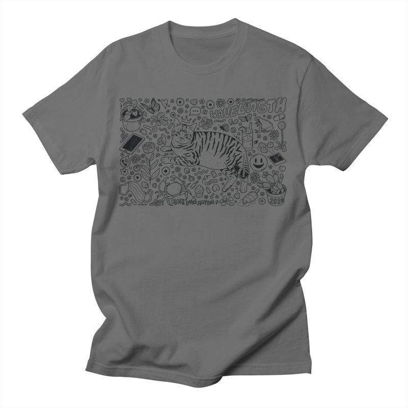 Wavelength 20th Anniversary Design - Black Outline Men's T-Shirt by Wavelength Music's Artist Shop