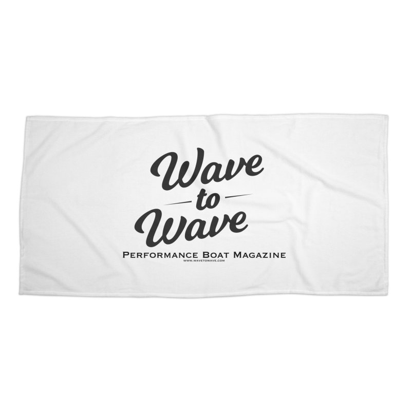 Wave to Wave Original Logo Accessories Beach Towel by Wave to Wave's Artist Shop