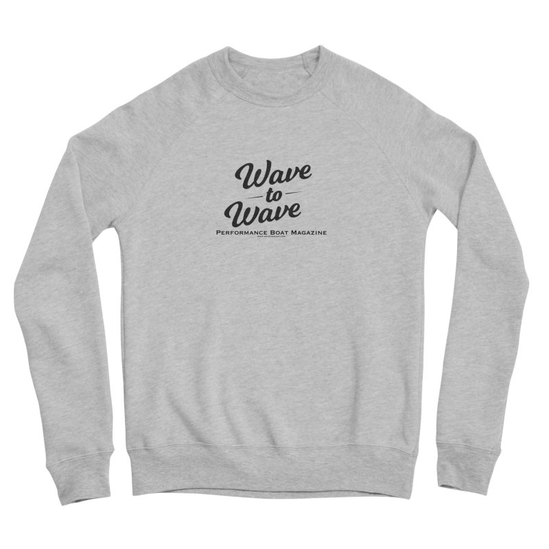 Wave to Wave Original Logo Men's Sponge Fleece Sweatshirt by Wave to Wave's Artist Shop