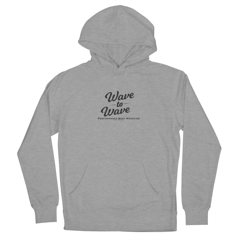 Wave to Wave Original Logo Women's French Terry Pullover Hoody by Wave to Wave's Artist Shop