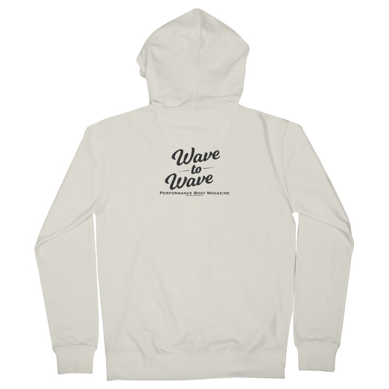 Wave to Wave Original Logo Men's French Terry Zip-Up Hoody by Wave to Wave's Artist Shop