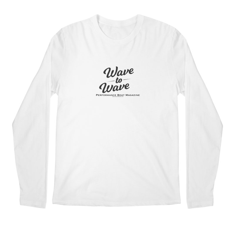 Wave to Wave Original Logo Men's Regular Longsleeve T-Shirt by Wave to Wave's Artist Shop