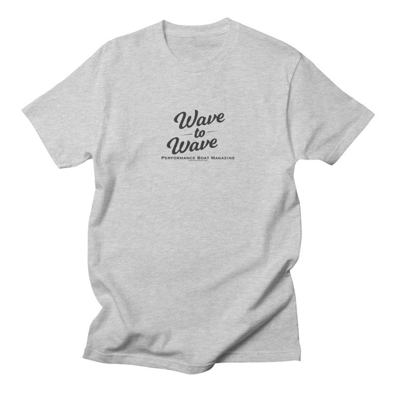 Wave to Wave Original Logo Men's Regular T-Shirt by Wave to Wave's Artist Shop