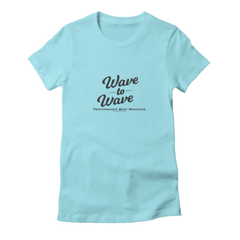 Wave to Wave Original Logo Women's Fitted T-Shirt by Wave to Wave's Artist Shop