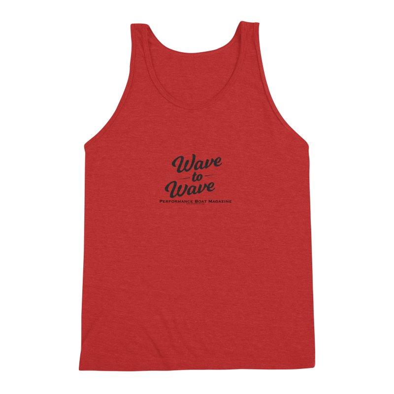 Wave to Wave Original Logo Men's Triblend Tank by Wave to Wave's Artist Shop