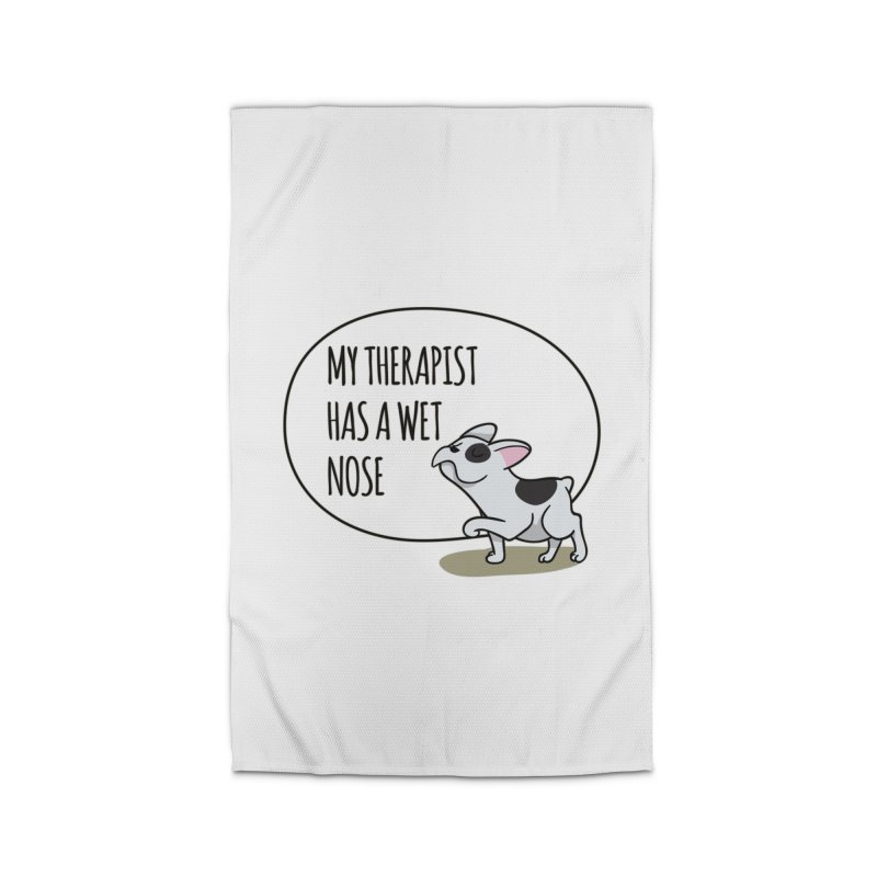 My Therapist Has a Wet Nose Home Rug by WaWaTees Shop