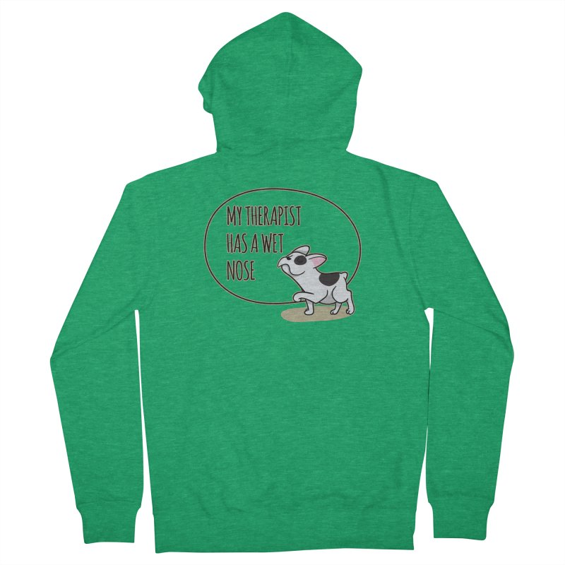 My Therapist Has a Wet Nose Men's Zip-Up Hoody by WaWaTees Shop