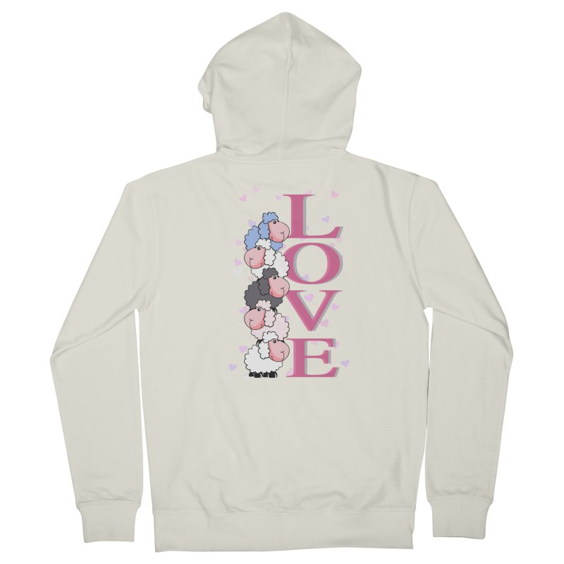 Love Sheeps Women's Zip-Up Hoody by WaWaTees Shop
