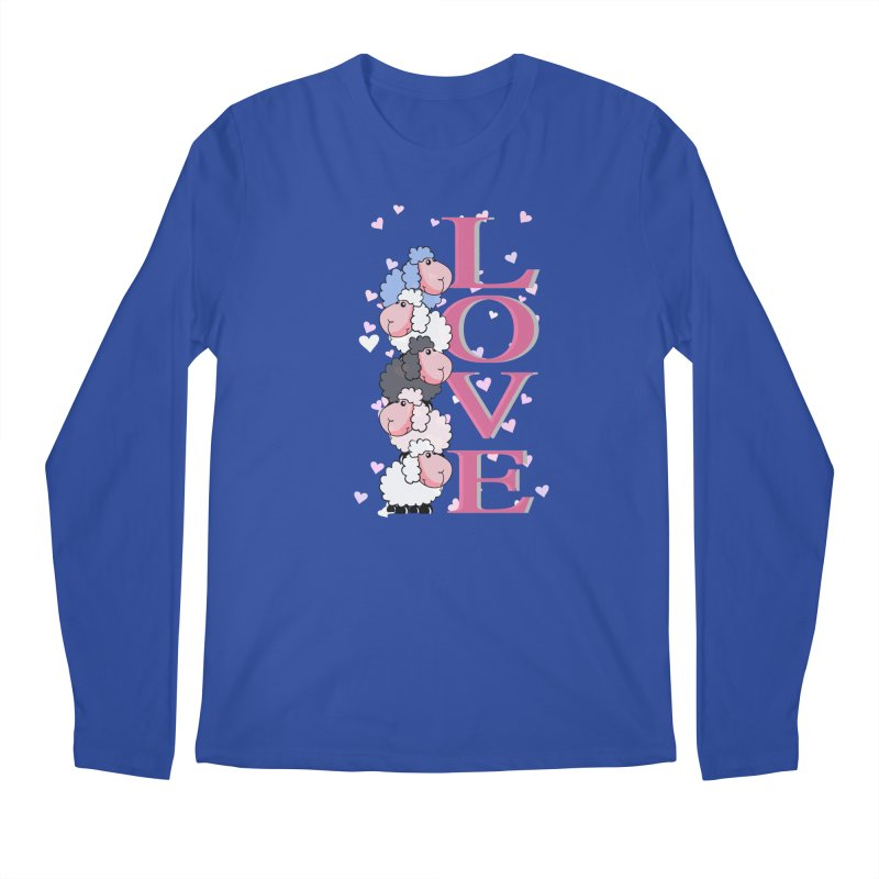 Love Sheeps Men's Longsleeve T-Shirt by WaWaTees Shop
