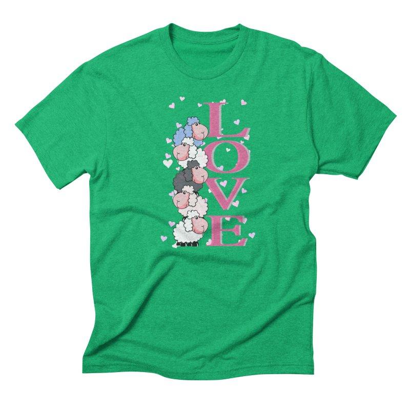 Love Sheeps Men's Triblend T-shirt by WaWaTees Shop