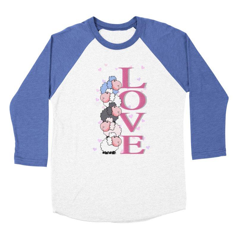 Love Sheeps Women's Baseball Triblend T-Shirt by WaWaTees Shop